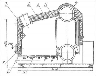 Принципиальная схема автоматики котла е1-9.